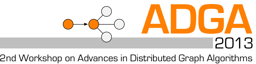 ADGA 2013: 2nd Workshop on Advances in Distributed Graph Algorithms